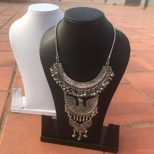 Jewelry - Oxidized Eagle Necklace